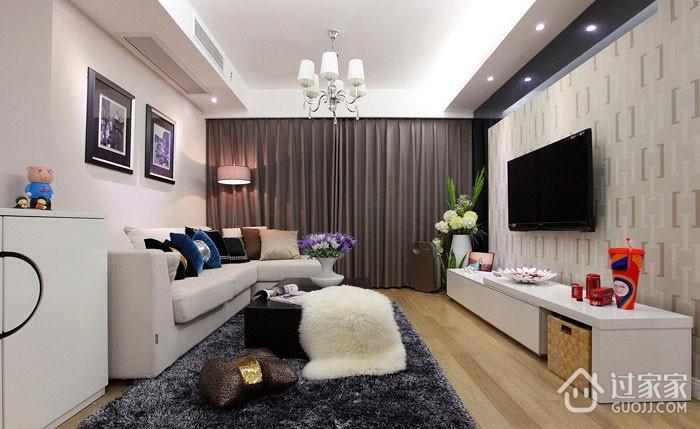 简单的美 简约客厅灯饰效果图