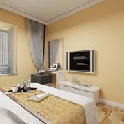 温馨空间 简约卧室窗帘装饰图