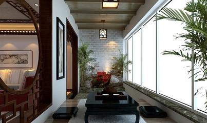 中式沉稳大宅设计欣赏阳台设计