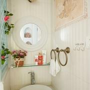 卫生间灯饰效果图 清新美式公寓
