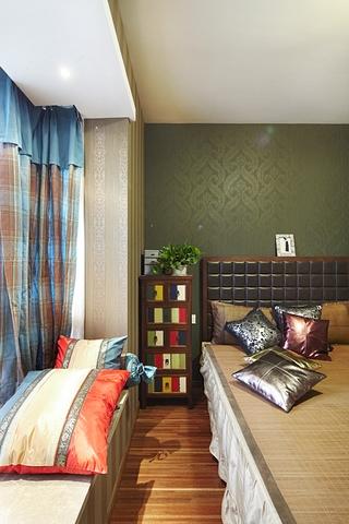 118平混搭风格住宅欣赏卧室局部