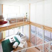 67平日式风格别墅欣赏客厅全景