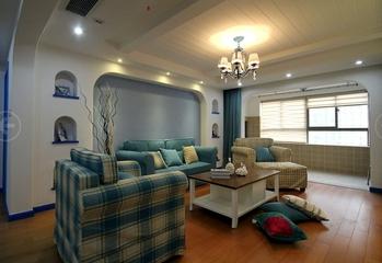 79平地中海温馨住宅欣赏客厅效果