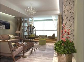 简约雅致三居室欣赏客厅设计