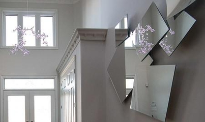北欧风格效果图玄关镜子