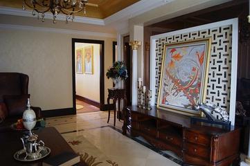 114平美式雅致四居室欣赏客厅吊顶