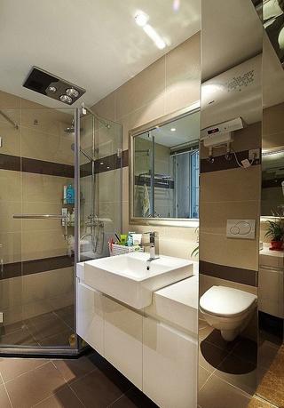 74平简约暖色二居室装修