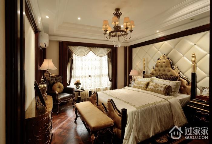 卧室窗帘装饰效果图 典雅美式风