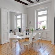 白色三居现代风格效果图餐厅