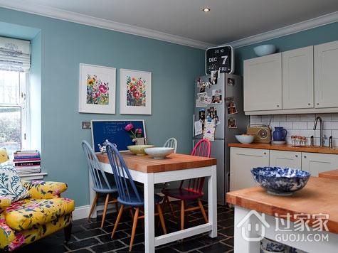 蓝色简约一居室欣赏
