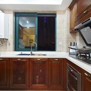 98平美式稳重住宅欣赏厨房陈设