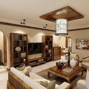 77平简约温馨家居设计欣赏客厅背景墙