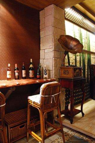 东南亚设计吧台摆设