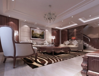 118平新古典三居室欣赏客厅灯饰