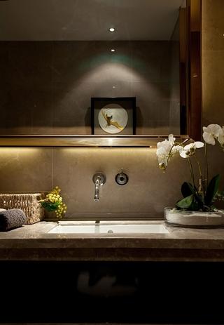 华丽新古典样板房欣赏洗手间陈设