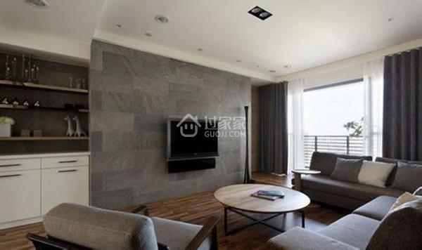 彩喷墙纸墙布很温馨, 水墨山水画显风雅!6种客厅电视墙造型风格各放异彩