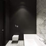现代极简风格浴缸