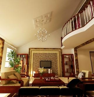 103平复式中式住宅欣赏