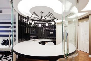 110平时尚现代风住宅欣赏餐厅吊顶