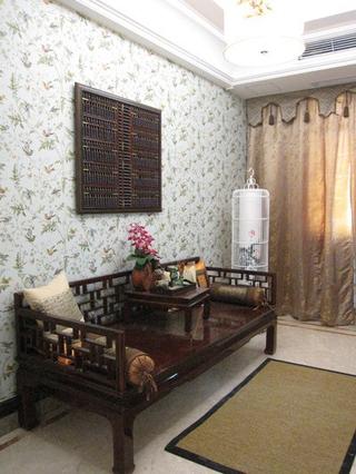 中式风效果图欣赏卧室窗帘