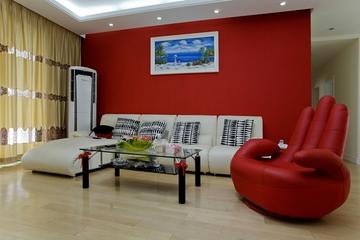 98平简约温馨三居室欣赏客厅设计
