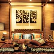 东南亚风格卧室背景墙设计