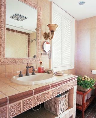 混搭风格温馨住宅欣赏洗手间