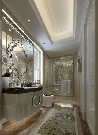 120平欧式大三居欣赏卫生间设计