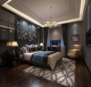新古典样板两居欣赏卧室背景墙