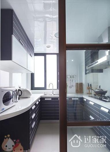 112平白色现代风住宅欣赏厨房橱柜