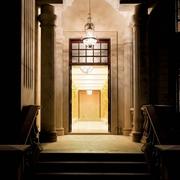 新古典别墅效果图入户门口