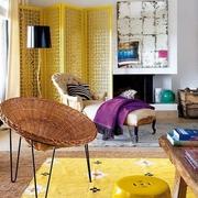 多彩家居 混搭客厅屏风装饰效果图