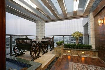 顶层室外阳台效果图