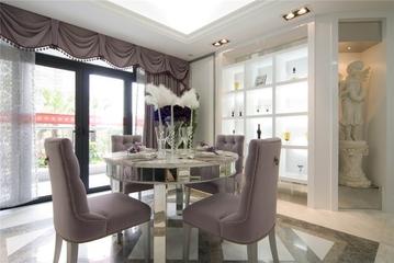 124平欧式三居室欣赏餐厅餐桌