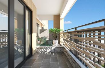 白色现代风格案例欣赏阳台