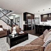 现代黑白灰别墅设计套图客厅