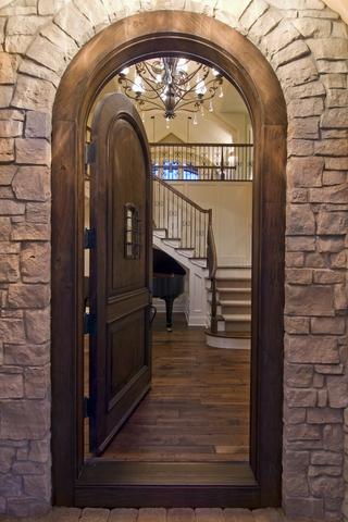 欧式古典别墅装饰效果图室内门