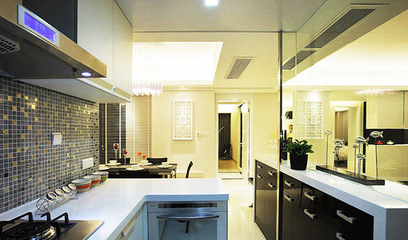 五个开放式厨房玻璃隔断装修案例,保证大开眼界!
