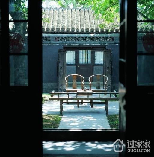 中式四合院设计陈设欣赏庭院