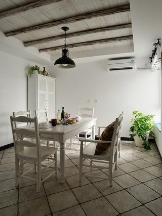 浪漫地中海住宅欣赏餐厅餐桌