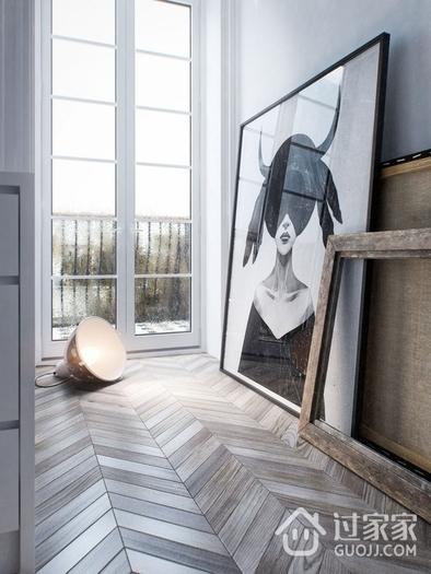 现代艺术公寓室内门