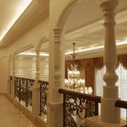 欧式风复式别墅效果二楼走廊设计