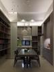 复式现代风格住宅开放式厨餐厅