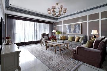 新古典样板房三居室欣赏