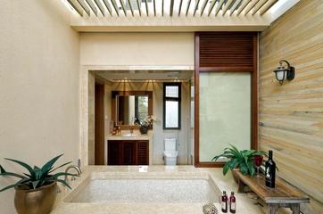 东南亚别墅设计浴缸