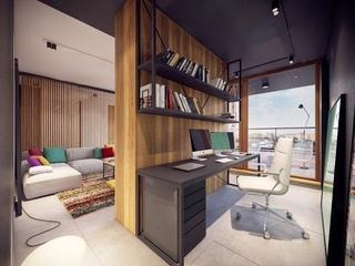 创意书房隔断设计效果图 唯美家居