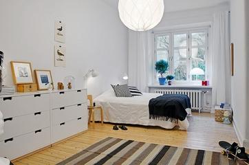106平白色宜家住宅欣赏卧室
