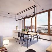 现代风十足 餐厅灯饰装饰效果图