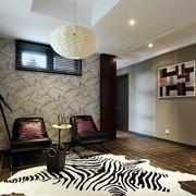 现代风十足 别墅客厅灯饰装修效果图