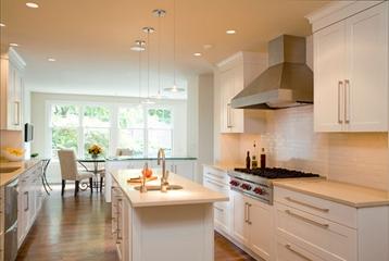 简欧米色温馨效果图厨房设计图